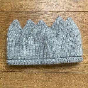 Cloud Island Baby Grey Knitted Crown Sz: 0-6M